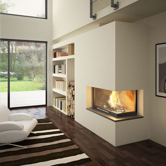 Corner fireplace dilemma moky and marisa for Contemporary corner fireplace designs